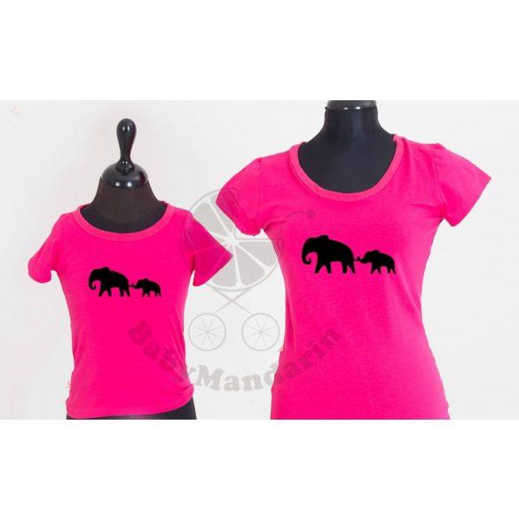 Anya-gyerek póló szett - elefántos