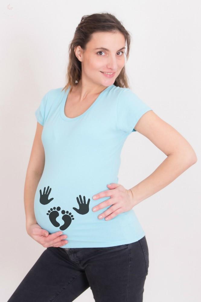 4dc23ad9f6 Kismama póló (mintás, feliratos) - Kezecskék, talpacskák ...