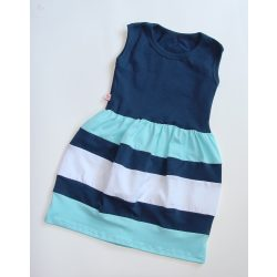 Gyerek ruha, baba ruha (sötétkék-világoskék-fehér)