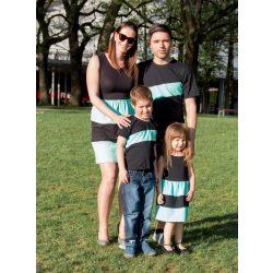 Anya-Lánya ruha - Apa-fia póló (fekete - menta)