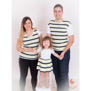 Apa lánya szett (menta, sárga, fekete, fehér)