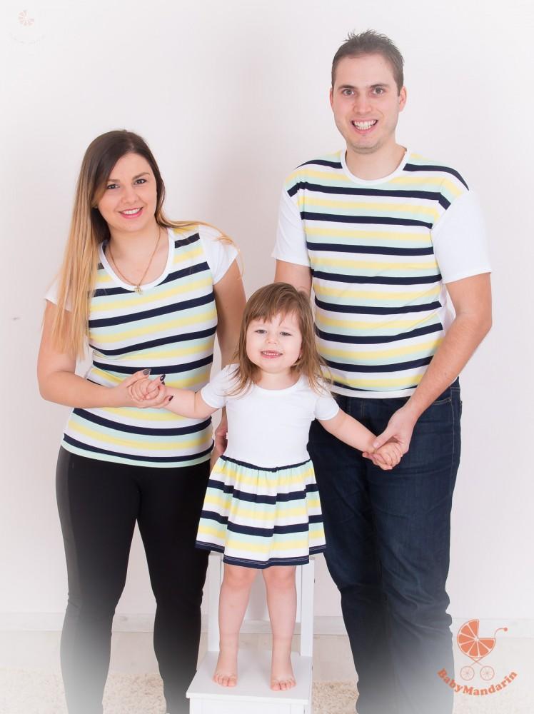a4bb4d9381 Apa lánya szett (menta, sárga, fekete, fehér) - BabyMandarin - Saját ...