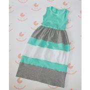 Gyerek ruha, baba ruha (türkiz-szürke-fehér)