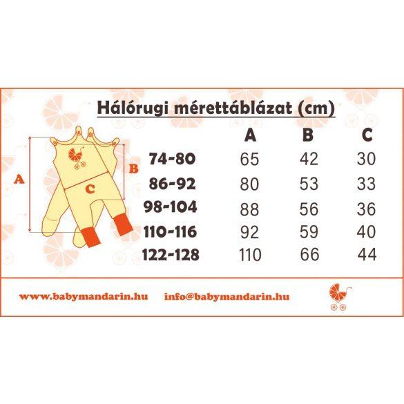 Ujjatlan háló rugdalózó 2 rétegű  (1 réteg pamut és 1 réteg polár)