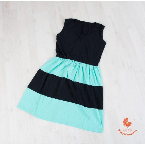 Női ruha (fekete - menta)