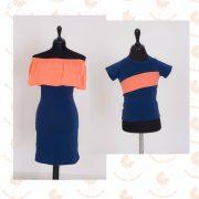 Szerelmespár ruha szett (narancs-sötétkék)