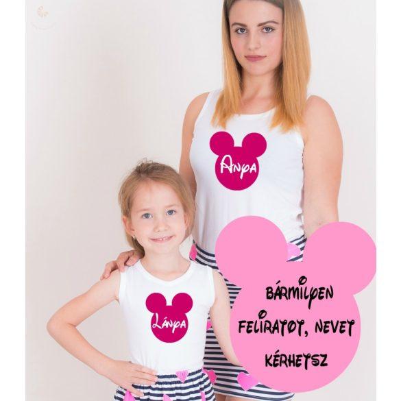 Anya-gyerek póló szett - egérkés VÁLASZTHATÓ SZÍNEK
