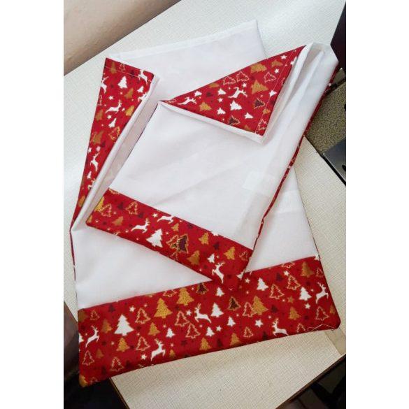 Egyedi neves és mintás szövet mikulás zsák EXTRA méret, Karácsonyi mintás anyaggal