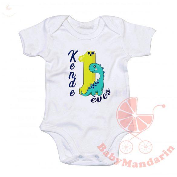 Body - baba kombidressz - szülinapos egyedi neves body 1 éves dínós