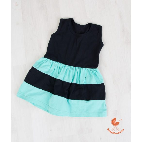 Gyerek ruha, baba ruha (fekete - menta)