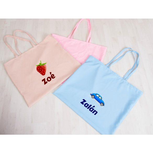 Teljes óvodai szett egyedi névvel és jellel  /rózsaszín+rózsaszín masnis/ AJÁNDÉK táskával ÚJ KOLLEKCIÓ 2021