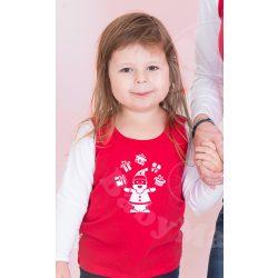 Karácsonyi gyerek felső, gyerek póló (Mikulás)