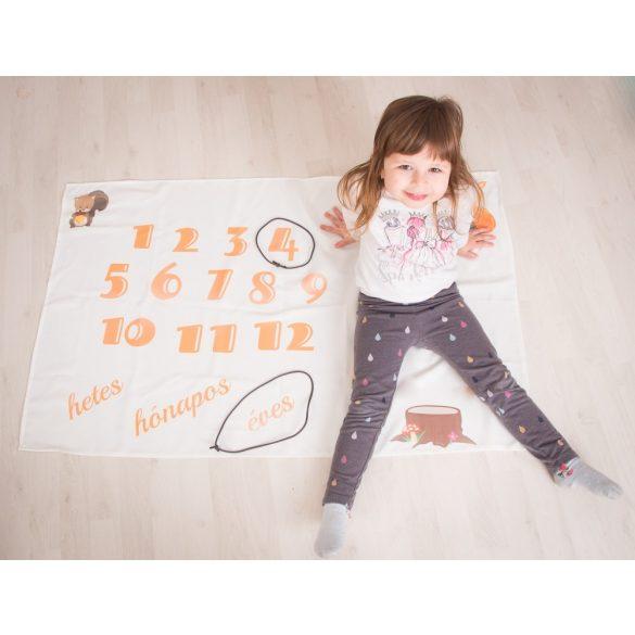 Évfordulós pléd  - Örökítsd meg babád növekedését!