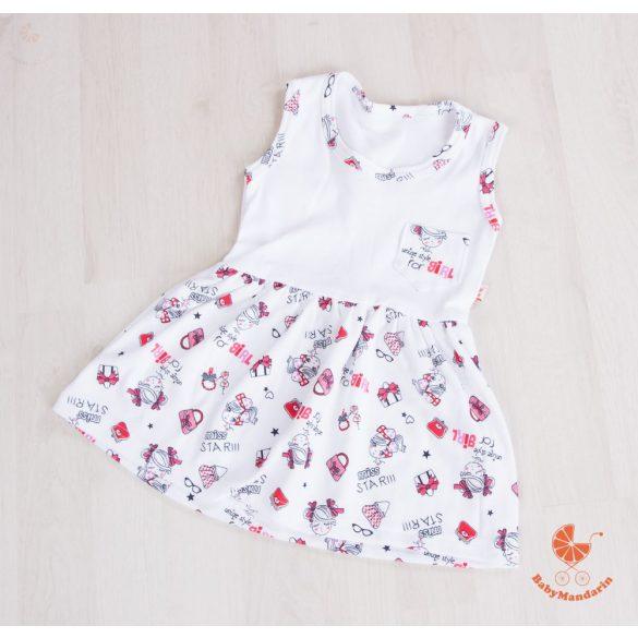 Gyermek ruha - fehér csajos szoknyarésszel
