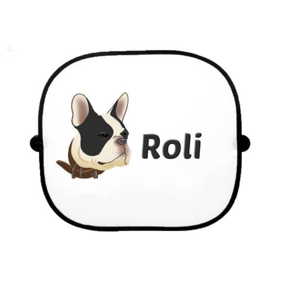 Autós napellenző egyedi névvel Francia bulldog2