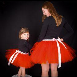 Anya lánya tüllszoknya szett, tütü szett Piros