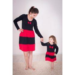 Anya - lánya ruha szett Fekete- piros