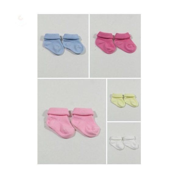 cf9c29e6b6 Pamut gyerek zokni, egyszínű (újszülött méret) - BabyMandarin ...