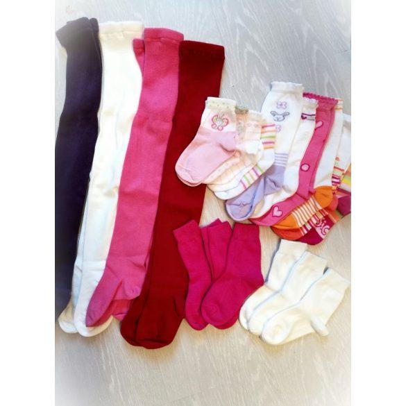 Pamut gyerek zokni, egyszínű (újszülött méret)