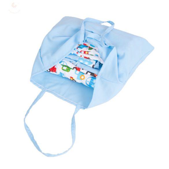 Teljes óvodai szett egyedi névvel és jellel  /kék+csillagos/ AJÁNDÉK táskával  A KÉSZLET EREJÉIG!