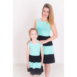 Anya - lánya ruha szett (menta-fekete)