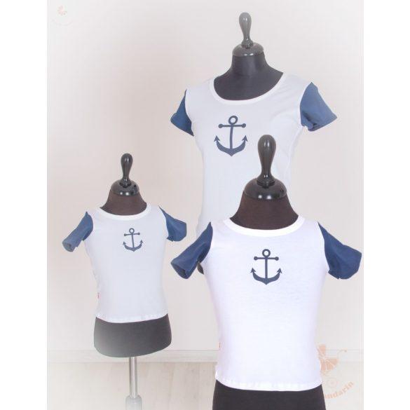 Anya apa gyerek póló szett - tengerész