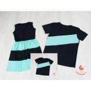 Anya ruha - Apa fia póló (fekete-menta)