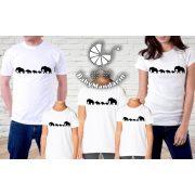 Teljes családi póló szett, elefántos mintával