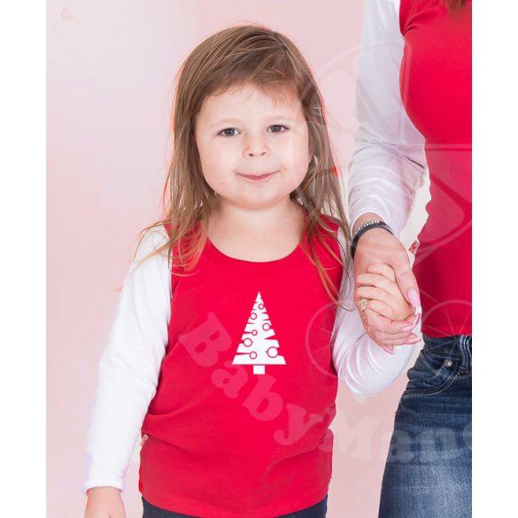 Karácsonyi gyerek felső, gyerek póló (Karácsonyfa)