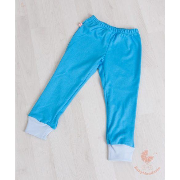 Kényelmes pamut bölcsis-ovis szett (Királykék-világoskék) cipzáros pulcsival