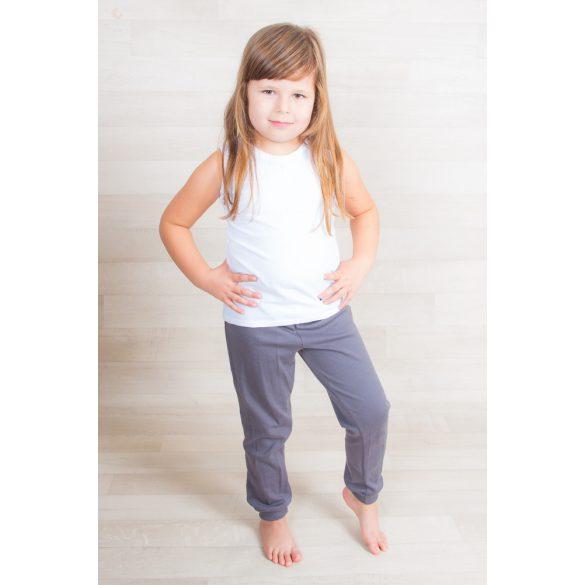 Kényelmes gyerek nadrág egyszínű 100% pamut, gyermek ovis nadrág, bölcsis nadrág