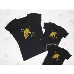Anya két lánya póló szett - unikornis