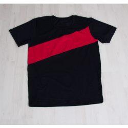 Baba póló fekete, piros csíkkal Karácsonyi szetthez
