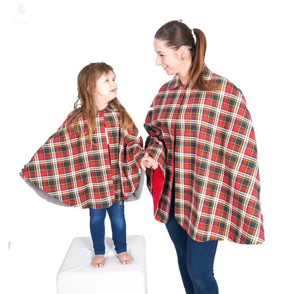 Anya lánya perelin szett piros kockás