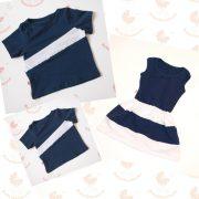 Anya ruha - Apa fia póló (sötétkék-fehér)