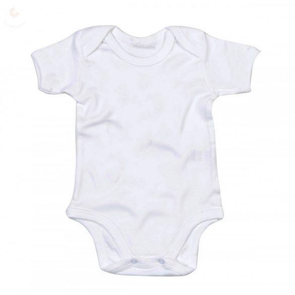 Egyszínű rövid ujjú body (egy darab)