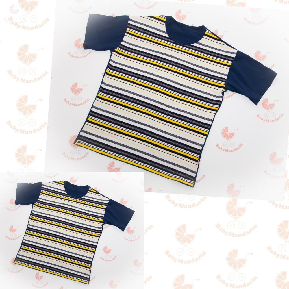 6e253551d42 Anya fia póló sötétkék sárga csíkos - BabyMandarin - Saját ...