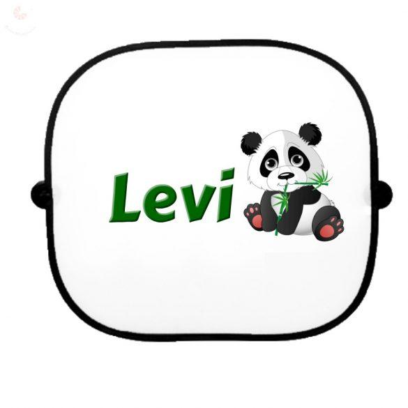 Autós napellenző egyedi névvel Panda