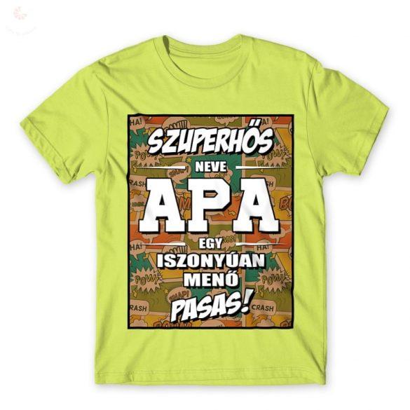 Szuperhős, neve APA- férfi póló
