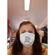 Designer textil maszk, egyedi maszk - Peugeot