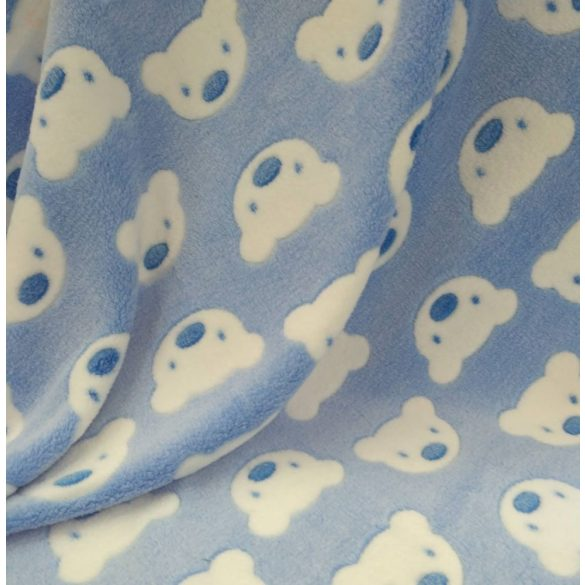 Wellsoft pihe-puha téli baba takaró  - kék macis