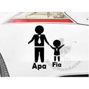 Autó matrica EGYEDI névvel kedves grafikával APA FIA