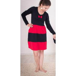Női ruha (fekete-piros Karácsonyi)