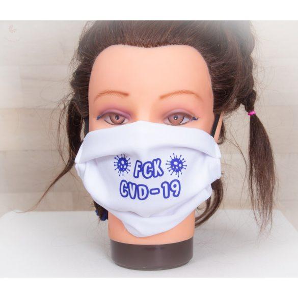 Designer textil maszk, egyedi maszk - FCK CVD-19