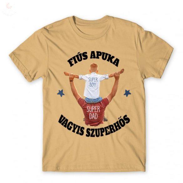 Fiús apuka vagyis szuperhős APA póló, férfi póló