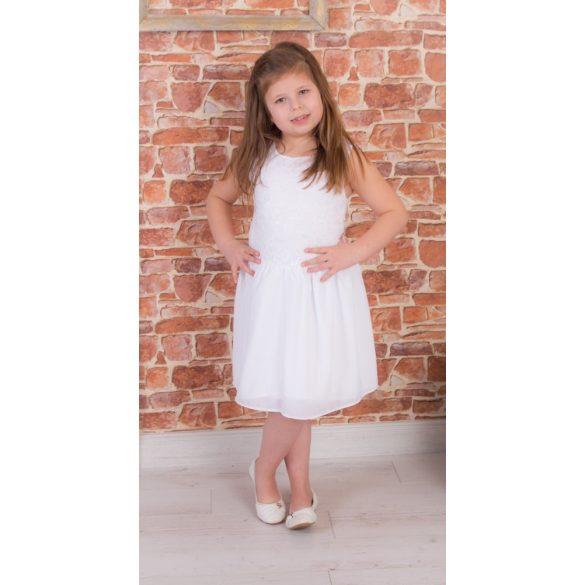 ALKALMI lányka, gyerek ruha  (Fehér csipke felső rész, fehér muszlin szoknyarésszel)