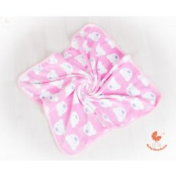 Wellsoft pihe-puha téli baba takaró  - rózsaszín macis