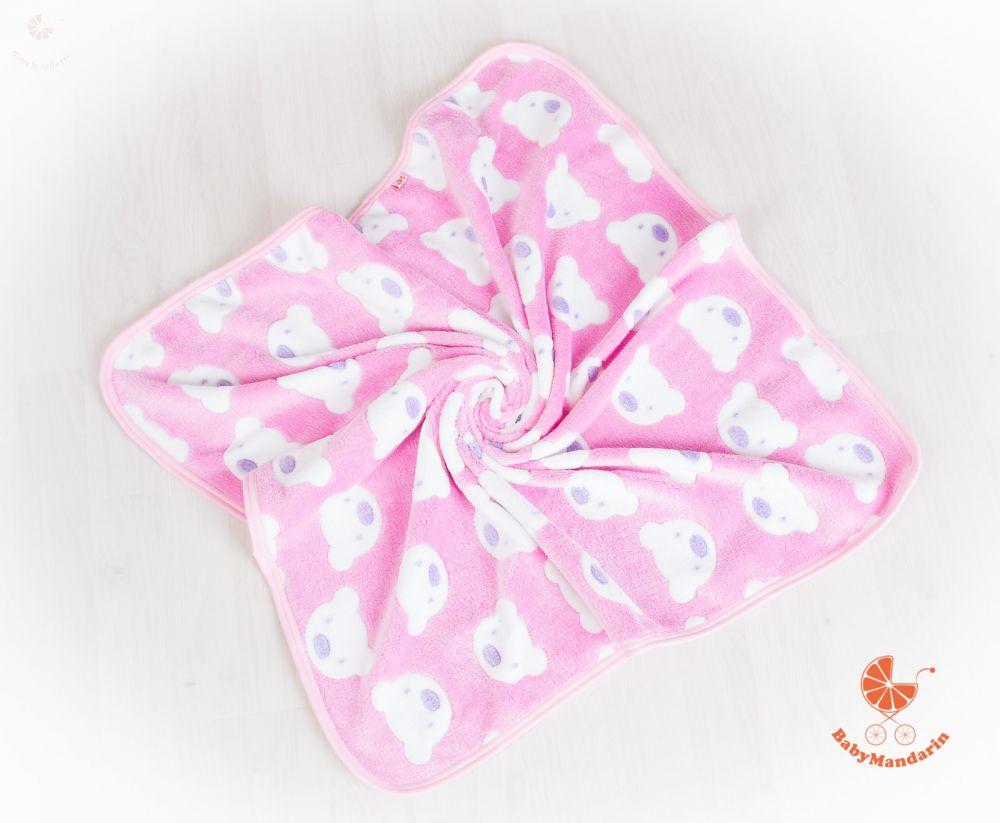 Wellsoft pihe-puha téli baba takaró - rózsaszín macis - BabyMandarin ... fb6d55b8c9
