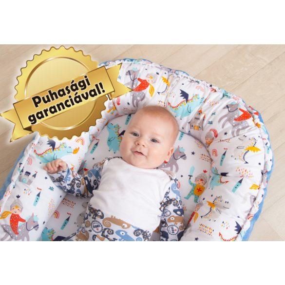 Babafészek, pihe-puha babafészek, baba fekvő, (normál méret) FIÚS