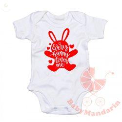 Húsvéti gyerek póló vagy body VÁLASZTHATÓ SZÍNEKBEN - Every bunny loves me!